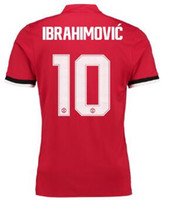 Wholesale Quality Store - Home Cup Shirt 2017-18 ,Cheap mens Soccer jersey Online with Ibrahimovic 10 printing,Customized men Thai Quality Soccer Jerseys,yakuda store