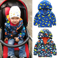 Wholesale Boys Rain Jacket - 2018 New Adorable Autumn Kid Boys Children Waterproof Windproof Hooded Rain Coat Jacket Outerwear Clothes