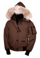 Wholesale waterproof hats women for sale - High quality outdoors Canada women short section windproof waterproof winter coat raccoon big fur collar ski down jacket