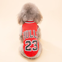 Wholesale Halloween Costume T Shirt - hot sale Hipidog Pet Cats Dogs Clothes cool Sports Jerseys Puppy Dog T-shirt Summer Breathable Mesh Vest Shirt Apparel lovely Costume