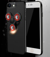 Wholesale Led Mirror Covers - Led Flash Fidget Spinner Case For iPhone 6 6s 7G 7 plus matte Cover Ethnic Shell Mirror Ship Rudder Hand finger Spinner Toy