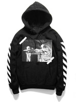 Wholesale Visions Painting - New OFF WHITE 13 men hoodies Pullover Striped Fleece Hoodies for mens brand HBA Vision Religion Painting VIRGIL ABLOH Fashion Sweatshirts