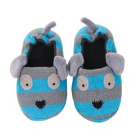 Wholesale Children S Footwear Wholesalers - Fashion Boys Slippers Cute Doggy Cartoon Dog Sandals Children 's Home Indoor Cotton Flats Toddler Soft Rubber Sole Kids Footwear in House