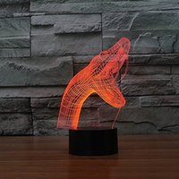mesa de cobra venda por atacado-Novo Tipo de Cobra 3D Night Light Table Light Lâmpada 3D Candeeiro de mesa USB 7 Mudança de Cor LED Candeeiro de Mesa Xmas Toy Presente