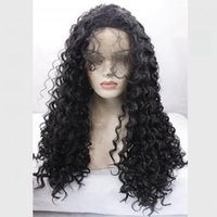 Wholesale Kinky Wig Pictures - Loose kinky curly synthetic glueless lace front wig picture 26inch 150%density black brown blonde #27&#613 many color