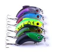 HENGJIA 5 Colori 5 Pz / lotto Lunghezza 5.5 CM Peso 10G Richiamo di Pesca Duro Manovella Esca Artificiale Vivid Fishing Lure Tackle