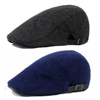 Оптово-Мужчины Casual Cap Golf Driving Wool Blend Peaked Flat Cabbie Warm Beret Hat HATCS0012