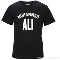 Wholesale Great White T Shirt - 2017 MUHAMMAD ALI T shirt Casual Clothing men Greatest Fitness short sleeve printed top cotton tee shirt plus size