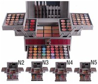 Wholesale Miss Rose Make Up - HOTTEST MISS ROSE High-end Eyeshadow 132colors Professional Makeup Pearly Matte Nude Eye Shadows Palette Make Up Waterproof Eye Shadow