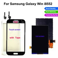 Wholesale Galaxy Win Duos - 100% Tested For Samsung Galaxy Win i8550 Duos i8552 lcd display + Touch screen digitizer glass sensor panel Black white