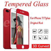 For Apple iPhone special film - Special Red mm D Curved Glass For iPhone7 iPhone plus D Curved Tempered Glass Phone Screen Protector Film With Retail Package