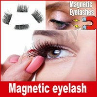 Wholesale Stocking Transparent - In stock 0.2mm 3D Magnetic False Eyelashes Extension Magnetic Eyelashes Makeup Soft Hair Magnetic Fake Eyelashes with retail packaging DHL