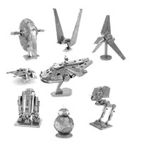 Wholesale Star Wars Miniature D Metal Puzzle Building Kits Fighter D Jigsaw Puzzle Educational Toys for Gift Millennium Falcon Model Toy