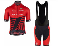 Wholesale Cycling Jersey Skinsuit - 2017 Tour De France Focus Team Cycling Jerseys Quick Dry Bike Wear cycling jersey Short sleeve tights + bib pants cycling skinsuit