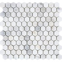 Wholesale Building materials Hexagon Marble Stone Mosaic tiles natural stone Tiles Kitchen Backsplash Wall Floor tiles two sizes optional LSMBH05