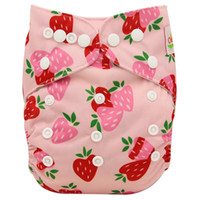 Wholesale Waterproof Baby Changing - 10 Pack Baby Cloth Diapers Character Print Waterproof Snaps Adjustable Baby Nappy Changing Baby Shower Pocket Diaper