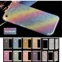 Wholesale Decals For Case - Great Lasting Full Body Wrap Decal Cover Bling Diamond Glitter Skin Sticker Case for iPhone 7 Plus iPhone 6 6s Plus iPhone 5s