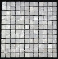 Wholesale Mother Pearl Squares - pure white color 100% Chinese freshwater shell mother of pearl mosaic tile for interior house decoration bathroom and kitchen wall tile