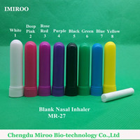 Wholesale inhaler glass - 52sets 2015 High Quality Aromatic Nasal Inhaler Sticks Plastic Nasal Tube for Essential Oil