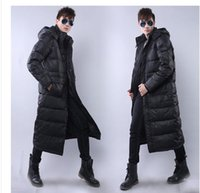 Wholesale Over Coat Jacket - Wholesale- Free shipping !!!The man with long down jacket Male new winter thickening over-the-knee big yards down jacket to keep warm coat