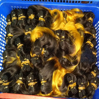 Fantastic Weave Production 100% Brazlian Ombre Cheveux humains ondulés 8 iinch 37pcs / lot 1.11kg Comestic Fashion Bulk Qté