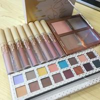 Wholesale Velvet Wear - NEW Kylie Jenner Cosmetics Vacation Edition 16 Colors Eyeshadow & 4 Color Highlighter & 4 Colors Matte   Velvet Liquid Lipsticks