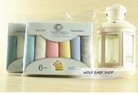 Wholesale Cheap Handkerchief Cotton - Wholesale- Retail 6pcs pack Cotton PET towel kerchief Cheap Baby nurse pinafore Boy Girls handkerchief Infant Free Shipping 2014