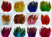 Wholesale Pheasant Feather Rooster - Hot sale! Natural Pheasant Chicken 650pcs 13 colors mix Beautiful Rooster feather 10-15cm DIY Craft Decoration