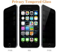 Wholesale A6 Glass - For Iphone 7 Privacy Tempered Glass For S7 iPhone 6 Screen Protector LCD Anti-Spy Film Screen Guard Cover for Samsung S6 S5 A6