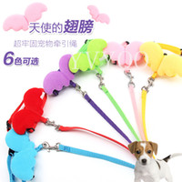 Wholesale Cute Dog Harness Leash - Cute Angel Pet Dog Leashes and Collars Set Puppy Leads for Small Dogs Cats Designer Adjustable Dog Harness Pet Accessori