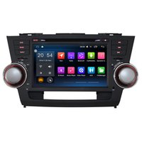 Wholesale Stereo Toyota Highlander - 8'' Quad Core Android 6.0.1 Car DVD Stereo Radio Player For Toyota Highlander 2008 2009 2010 2011 With Wifi BT Map