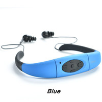 Wholesale Ipx8 Waterproof Mp3 Player - Head-mounted sport MP3 Waterproof MP3 The ipx8 music player CCC certified the new MP3