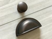 "Wholesale Oil Rubbed Bronze Knobs - 3"" Cup Drawer Pull Dresser Pulls Knobs Handles Shell Bin Cabinet Door Knob Pull Kitchen Vintage Style Oil Rubbed Bronze"