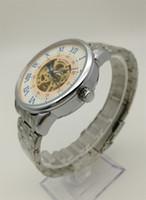 мужские часы из нержавеющей стали фарфор оптовых-Автоматические механические часы мужские из нержавеющей стали римские часы Китай Гуанчжоу модный бренд мюонного полые роскошные копия часы