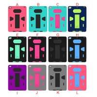 Wholesale Colorful Case Ipad Mini - Hybrid Robot Tri-Protecter Case with Holder PC+TPU Material Colorful for iPad Mini Air Pro Stand Protective Cover 20pcs up