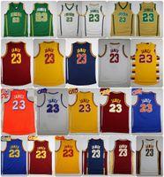 Wholesale High James - Throwback St. Vincent Mary High School Irish LeBron James Jerseys Basketball Shirt Green White LeBron James No.23 Stitched Jerseys Cheap