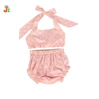 Wholesale Cute Girl Toddler Clothes - 2017 Toddler baby girl clothes summer children clothing sets Star pattern 2PCS fashion cute baby girl set