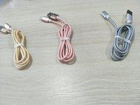 halat şarj aletleri toptan satış-İletim olmadan 2018 Dokuma Halat Manyetik Şarj Kablo Mikro USB V8 Kablo Naylon Örgülü Yüksek Hızlı Tipi c Şarj