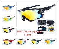 Wholesale Cheap Quality Man Bags - cheap High Quality 5 lens Fashion JAWBREAKER Sports Sunglasses Polarized Women Men uv400 Jawbreaker Cycling Eyewear With bag
