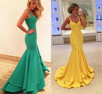 Wholesale Heart Shaped Red Gowns - Prom Dresses Long 2017 The Real Image Prom Dresses Heart - Shaped Collar Mermaid Yellow Dress Shoulder Strap Cheap Custom Sizes Ball Gowns