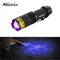 Wholesale uv lamp 12v - ALONEFIRE SK68uv 395nm mini Zoom UV ultraviolet light to detector lamp flashlight