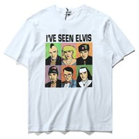 Wholesale Funny Vintage Shirts - I'VE SEEN ELVIS Avaters Printed Short Sleeve T-shirt Men Funny Vintage Tees Tops Round Collar 100% Cotton Tee shirt Male M-XXL