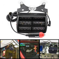 18 LED 18LED blanco Dash Advertencia Caution Police Emergency Flash luz estroboscópica Carro del coche