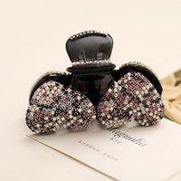 Wholesale Jewerly Clips - 40% Off Luxury Clamps New Hair Jewerly full Rhinestone Colorful Heart Hair accessories crystal swarovski Bling Bling clips free DHL