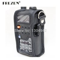 Wholesale case for walkie talkie - Wholesale- Radio Leather Pouch Soft Case Accessories For Walkie Talkie BAOFENG UV-5R UV-5RA UV-5RE UV-5RG telsiz