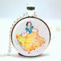 Wholesale Snow White Plates - 10pcs lot Snow White Art Print NECKLACE Glass Photo Cabochon Necklace
