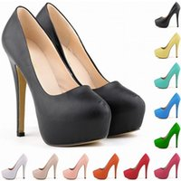 Wholesale Teal High Heels Wedding - Chaussure Femme Womens Pumps Ladies Matt Platform Stiletto High Heels Party Wedding Women Shoes US Size 4-11 D0054