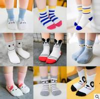 Wholesale Baby Socks Pack - 5 Pack Baby Animal Striped Socks Korea Sock Summer Infant Toddler Boy Girl Thin Cotton Sock Knitted Cheap Socks 4 Size