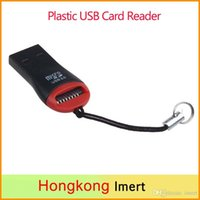 High Speed ​​2.0 Mini-Micro SD T-Flash TF M2 USB Memory Hit Lecteur de carte bon marché Lecteur de carte USB en plastique