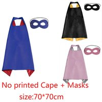 original mask designs - DIY Colorful No Printed Capes with Masks Size cm Costumes Wear for Children Print or Draw Design Do It by Baby Kids